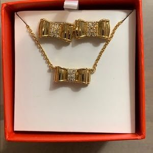 Kate Spade New York bow earrings and necklace